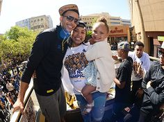 Stephen Curry's Daughter Riley Rides Float at Warriors Parade: Photos! - Us Weekly