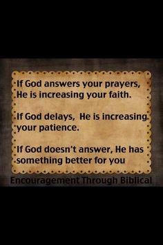 Oh how easy it is to be impatient about something but we don't realize the work God is doing while we wait :)