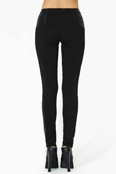 Shakuhachi Tweed Faux Leather Pant