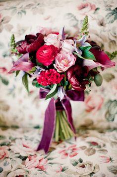 raspberry hued bouquet
