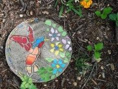 steinmauer garten DIY or Buy How to Make a Garden Mosaic Stepping Stone - Or Where To Buy if You. Mosaic Garden Art, Mosaic Flower Pots, Mosaic Pots, River Rock Landscaping, Landscaping With Rocks, Landscaping Ideas, Mosaic Stepping Stones, Stone Mosaic, Pebble Mosaic