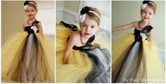 Tutu dress in mustard and gray yelllow and by YourSparkleBox,