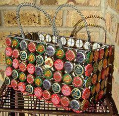 Bottle cap basket - love it!