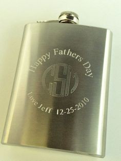 Circle Monogram Flask for Personalized Present Gift by netexchange, $16.95