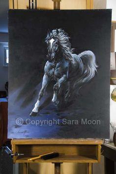 Original Sara Moon Artwork For Sale Moon Painting, Painting & Drawing, Moon Art, Sign Printing, Oil On Canvas, Original Artwork, Art Gallery, Lion Sculpture, The Originals