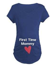 Navy 'First Time Mommy' Maternity Tee - Women | Daily deals for moms, babies and kids