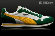 Puma Shoes - Cabana - Verdant Green / Dandelion Puma Sneakers Shoes, Mens Puma Shoes, Adidas Boots, Pumas Shoes, Classic Sneakers, Casual Sneakers, Sneakers Fashion, Casual Shoes, Fashion Shoes