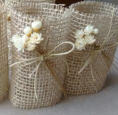 Porta guardanapos de casamento rústico