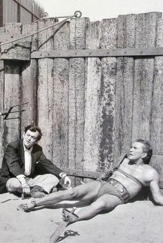 Stanley Kubrick and Kirk Douglas in Spartacus (1960).