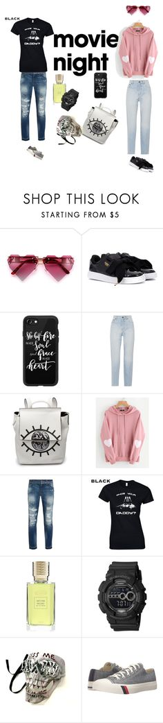"""""""Purrrfect"""" by lolla-cher ❤ liked on Polyvore featuring Puma, Casetify, Yves Saint Laurent, WithChic, Dolce&Gabbana, Ex Nihilo, G-Shock, Keds and movietime"""