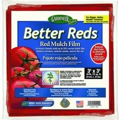 Dalen Gardeneer x Better Reds Red Mulch Film, 8 Pack Garden Soil, Gardening, Mulches, Garden Supplies, Larger, Wellness, Packing, Film, Gallery