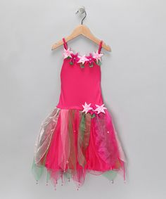 Take a look at this Fuchsia Flower Madeline Dress - Girls by Fairy Dreams on #zulily today!
