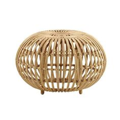 """In 1951, Franco Albini designed a stool made of rattan. """"Ottoman"""" is an original, artistic and elegant piece of furniture that has multiple uses. The design of the """"Franco Albini Ottoman"""" is timeless and today more relevant than ever, because of the materials sustainability. Small Height 13.8inDiameter 21.6in LargeHeight 15.7inDiameter 25.6in"""