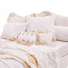 Bella Notte White Whisper Linen Bedding Master bedding idea