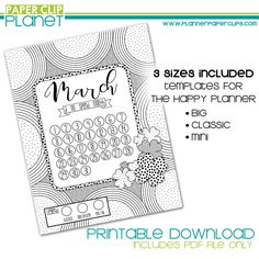 For Printable March {No Spend Month} Calendar from Paper Clip Planet