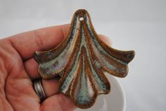 Ceramic Clay Pottery Pendant by WillowBranchBeads on Etsy, $10.00