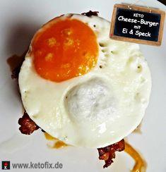 Probiere mein leckeres Burger Rezept für deinen LCHF Ernährungsplan. Low Carb Keto Egg Bacon Burger. Low Carb High Fat Rezept mit Ei & Speck.
