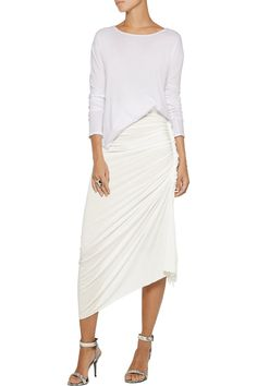 Shop on-sale Rick Owens Lilies ruched asymmetric jersey maxi skirt. Browse other discount designer Skirts & more on The Most Fashionable Fashion Outlet, THE OUTNET.COM