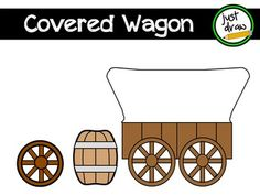 Simple covered wagon, wagon wheel and barrel, perfect for your westward expansion, pioneer, or cowboy projects! These images can be used for personal or commercial projects. Please refer to my TOU document for specifics on copyright. Your purchase gives you permission to use the images - please do not share or distribute.