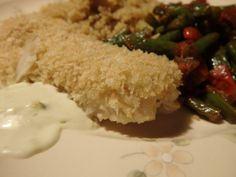 Save $40 on 1st box with code 9E93XP at hellofresh.com and enjoy cooking again :) Delicious! Panko-Crusted Cod with Wasabi Aioli, Quinoa, and Green Bean Tomato Saute