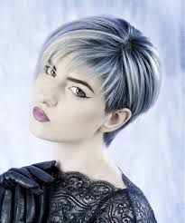 blonde and blue short hair - Google Search