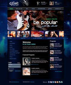 DJ Set Radio Station Joomla Template by Dynamic Template
