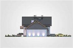 Elewacja lewa projektu Jupiter V Bis House, Houses, Projects, Home, Homes