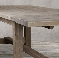 Reclaimed Wood Zinc Strap Rectangular Dining Table Home
