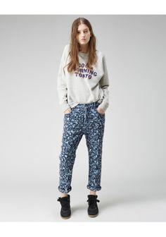 Isabel Marant Étoile Maddy Embroidered Boyfriend Jeans | La Garçonne
