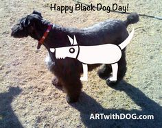 National Black Dog Day ! Notice the resemblance to our logo? ; D Our Best Buddy ❤️ @ ARTwithDOG.com ~   #NationalBlackDogDay #Dog #K9 #Canine #October #Fall #Autumn #Cute #Friendly #Bouvier #BouvierDeFlandres #BlackDog