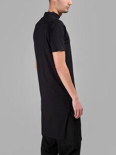 Y-3 Y-3 Men'S Black Mock Neck T-Shirt. #y-3 #cloth #t-shirts