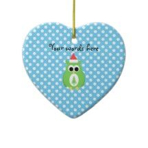 Cute christmas owl christmas ornaments