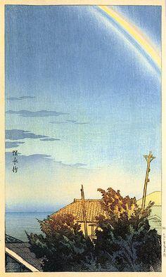 hanga gallery . . . torii gallery: Rainbow by Ito Shinsui