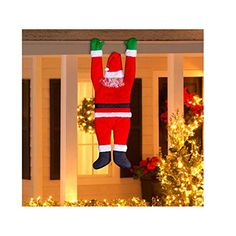 Hanging Santa Christmas Decoration Gemmy Outdoor From Gutter Xmas Gift >>> Check out this great product.  This link participates in Amazon Service LLC Associates Program, a program designed to let participant earn advertising fees by advertising and linking to Amazon.com.
