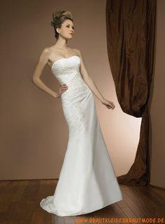 2013 Schöne Brautmode Prinzessin aus Taft mit Kapelle