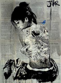 "Saatchi Art Artist LOUI JOVER; Drawing, ""ukiyo"" #art"