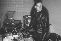Ralf Hutter of Kraftwerk in the studio.