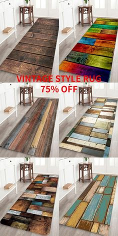 Bathroom Decor Discover Rosegal vintage style bath rugs wood print retro style home decor area rug for hall bedroom studio Diy Crafts To Sell, Home Crafts, Diy Home Decor, Retro Stil, Vintage Stil, Vintage Wood, Style Retro, Style Vintage, Decoration Evenementielle