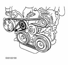 serpentine belt routing diagram picture for the gmc and chevrolet rh pinterest com 1994 Ford F150 Belt Diagram 1994 Ford Mustang Power Distribution Box