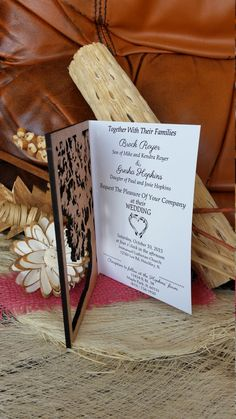 Tree of life wedding invitation 60 / wood by AmazingWoodCraft