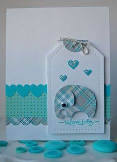 Baby boy cards handmade diy layout ideas for 2019 Baby Boy Cards Handmade, New Baby Cards, Baby Scrapbook, Scrapbook Cards, Tarjetas Diy, Baby Accessoires, Karten Diy, Baby Shower Cards, Baby Kind