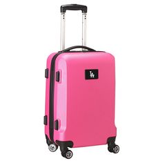 MLB Los Angeles Dodgers Carry-On Hardcase Spinner - Pink