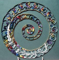 Quilled rainbow spiral   Flickr: Intercambio de fotos