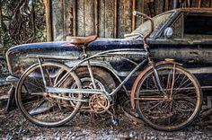 Vintage Bicycle Photograph - Vintage Transportation by Debra and Dave Vanderlaan