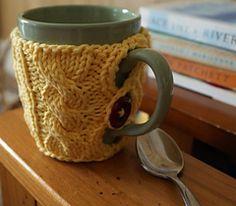 Button mug cozy