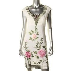 I just discovered this while shopping on Poshmark: SUE WONG Ivory Embroidered Party Cocktail Dress 6. Check it out!  Size: 6