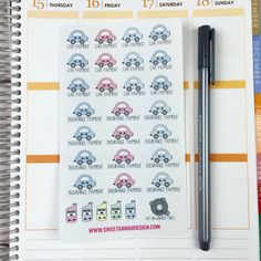Kawaii Car Payment/Insurance Stickers by SweetKawaiiDesign on Etsy