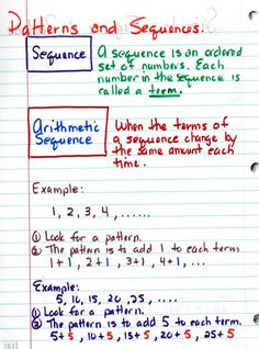 Pattern and sequences