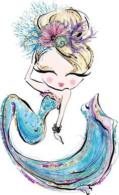 Adeline Mermaid - Art World Mermaid Artwork, Mermaid Drawings, Drawings Of Mermaids, Mermaid Paintings, Unicorns And Mermaids, Mermaids And Mermen, Cute Mermaid, The Little Mermaid, Image Princesse Disney