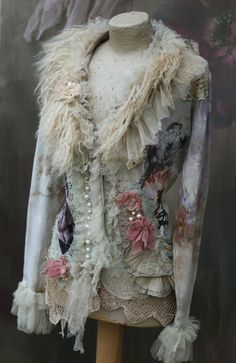 RESERVED Winterscape jacket ornate bohemian by FleursBoheme